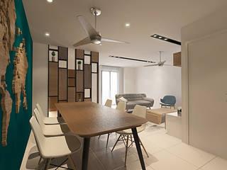 Aurora Modern dining room by Verde Design Lab Modern