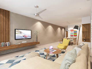 Living Room :  Living room by Verde Design Lab