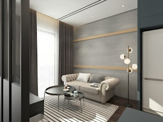 Living Area :  Living room by Verde Design Lab