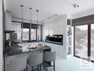 Projekt wnętrza domu w stylu nowojorskim od MIRAGE STUDIO Sebastian Rzymski Eklektyczny