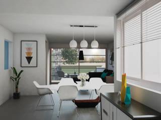 Dining room by ÖQ Arquitectos, Modern