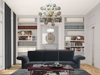 Apartment Renovation Haussmannian Style by architetto stefano ghiretti Classic
