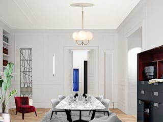 Apartment Renovation Haussmannian Style Classic style dining room by architetto stefano ghiretti Classic