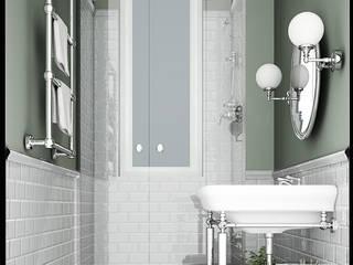 Apartment Renovation Haussmannian Style architetto stefano ghiretti 浴室 Grey
