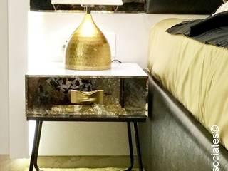 Dr.Bhavisha's Residence - Modern full interior renovation:  Bedroom by Chawla N Associates
