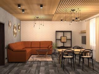 Загородный дом: Гостиная в . Автор – Студия дизайна Елены Нужиной
