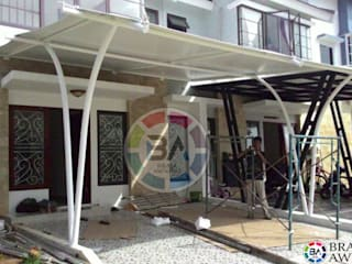 Braja Awning & Canopy Balconies, verandas & terraces Accessories & decoration Synthetic White
