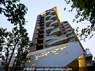 大桓設計顧問有限公司 Multi-Family house Tiles Orange