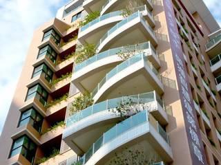 大桓設計顧問有限公司 Casas multifamiliares Azulejos Naranja