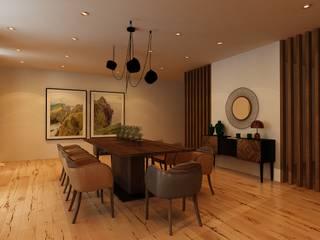 Projectos 3D Salas de jantar ecléticas por Bis-bis Design Studio Eclético