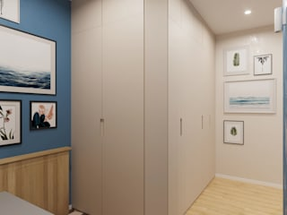 Прихожая Коридор, прихожая и лестница в скандинавском стиле от Гузалия Шамсутдинова | KUB STUDIO Скандинавский