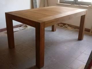Stół drewniany otwierany: styl , w kategorii  zaprojektowany przez NaLata - Meble Drewniane, Ariel Młotkowski