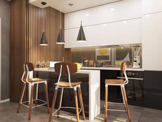 Гузалия Шамсутдинова | KUB STUDIO Cocinas de estilo minimalista