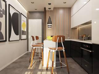 Cocinas de estilo minimalista de Гузалия Шамсутдинова | KUB STUDIO Minimalista