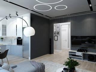 Salas de estar minimalistas por Гузалия Шамсутдинова | KUB STUDIO Minimalista