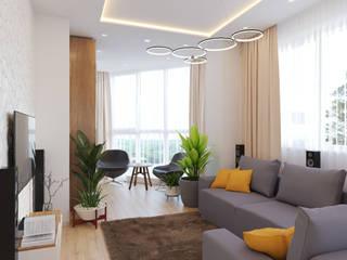 Salas de estar modernas por Гузалия Шамсутдинова | KUB STUDIO Moderno