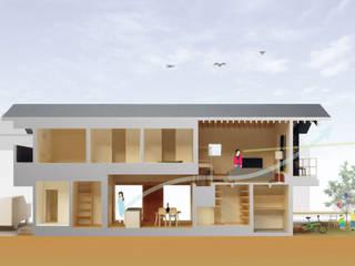 茜部の家: border design architectsが手掛けた木造住宅です。