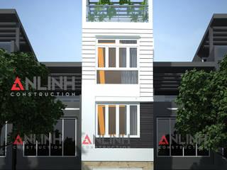 Mẫu nhà phố đẹp -Công Trình NGUYỄN NGỌC QUANG:   by CÔNG TY THIẾT KẾ XÂY DỰNG AN LĨNH