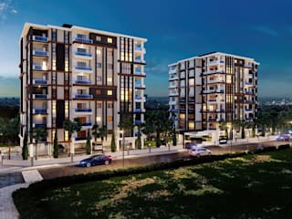 Ceren Kaya Mimarlık – MD Park Evleri:  tarz Apartman