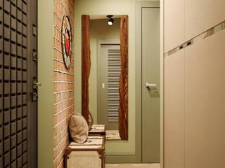 Мини-лофт для байкера Коридор, прихожая и лестница в эклектичном стиле от PROROOMS Эклектичный