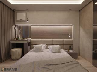 Дизайн интерьера 3к. квартиры по ул. Краснореченская, 163, г. Хабаровск Спальня в стиле лофт от Студия дизайна интерьера L'grans Лофт