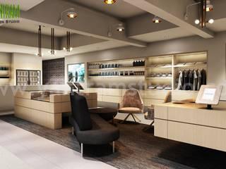 Shop Interior Design Ideas   3d Interior Modeling by Yantram Architectural Design Studio - New York, USA Modern Koridor, Hol & Merdivenler Yantram Architectural Design Studio Modern