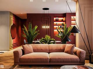 Яркая квартира: Гостиная в . Автор – Duplex Apartment Интерьерные решения