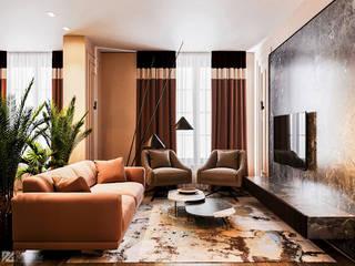 Яркая квартира Гостиные в эклектичном стиле от Duplex Apartment Эклектичный