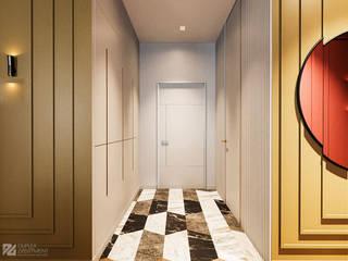 Яркая квартира Коридор, прихожая и лестница в эклектичном стиле от Duplex Apartment Эклектичный