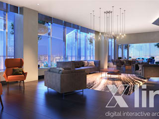 Modern living room by Xline 3D Modern