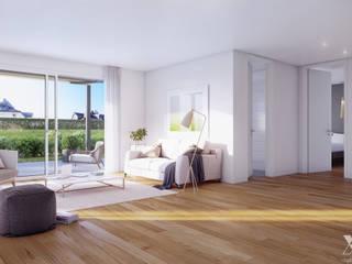 Gartenweg Suhr by Xline3D Moderne Wohnzimmer von Xline 3D Digital Interactive Architecture Modern