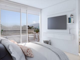Xline 3D Dormitorios de estilo rústico