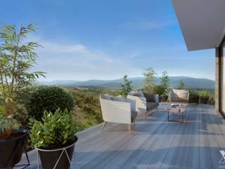 Xline 3D Balcones y terrazas de estilo minimalista