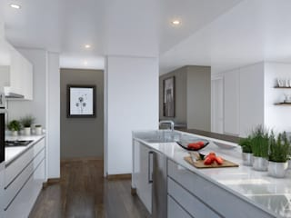 Minimalist kitchen by Xline 3D Minimalist