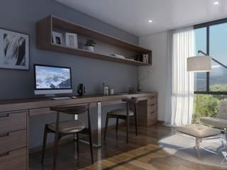 Mil Nueve Diez - Cobitat Estudios y oficinas minimalistas de Xline 3D Minimalista