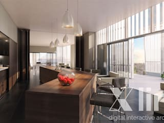 Modern dining room by Xline 3D Digital Architecture Modern