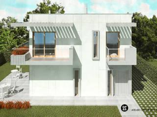 ATELIER OPEN ® - Arquitetura e Engenharia Fertighaus Eisen/Stahl Weiß