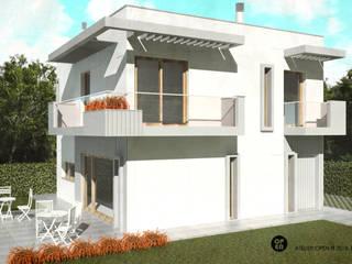 ATELIER OPEN ® - Arquitetura e Engenharia Garten im Landhausstil Eisen/Stahl Weiß