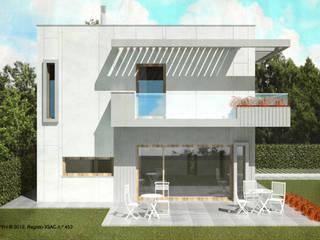 ATELIER OPEN ® - Arquitetura e Engenharia Minimalistische Häuser Beton Weiß