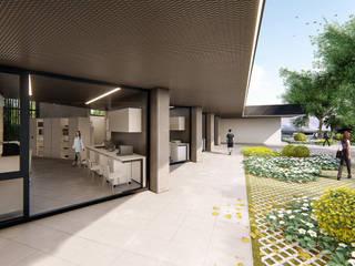 Nuevo laboratorio PASSIVHAUS de Emuasa: Escaleras de estilo  de UNO100 Arquitectura