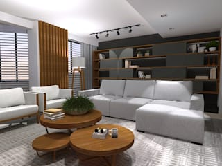 Ruang Keluarga Modern Oleh Cláudia Legonde Modern