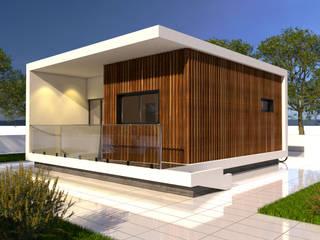 MORADIA PRÉ-FABRICADA MOD.TP.03 - T1: Casas pré-fabricadas  por Arbisland Arquitectura & Design
