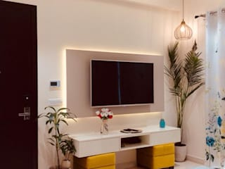Residence at Astaire Gardens, Gurgaon Modern living room by INTROSPECS Modern