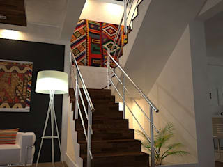 Eclectic style corridor, hallway & stairs by SindiyFiorella Eclectic