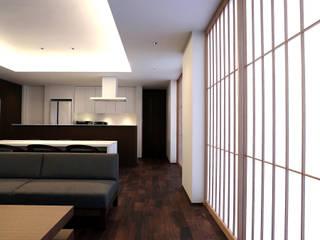 神野の住宅 モダンデザインの リビング の MAアーキテクト一級建築士事務所 モダン
