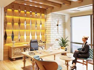 Cess İç Mimarlık – Ahşap Ofis Tasarımları:  tarz Ofisler ve Mağazalar