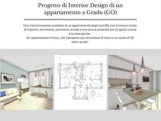 Progetto di Interior Design di un appartamento a Grado (GO) di Dettaglidinterni Architettura, Interior Design e Home Staging Mediterraneo