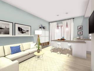 Progetto di Interior Design di un appartamento a Grado (GO) Soggiorno in stile mediterraneo di Dettaglidinterni Architettura, Interior Design e Home Staging Mediterraneo