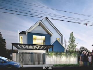 IBL House :  Rumah tinggal  by Atelier BAOU+