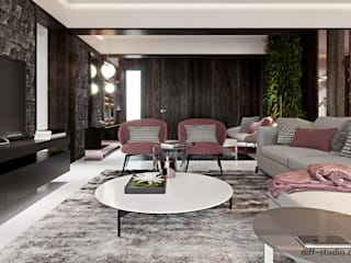Eclectic style living room by Виталий Юров Eclectic